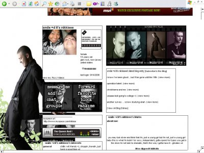 Justin Timberlake Myspace Layout