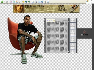 Pharrell Williams Myspace Layout