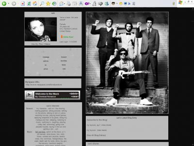 Hellogoodbye myspace layout