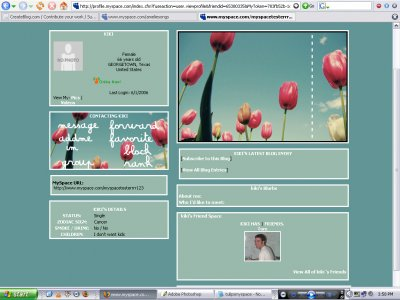 Tulips Myspace Layout