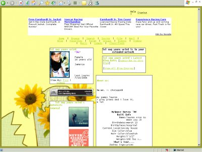 You are my sunshine. Myspace Layout