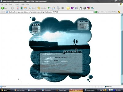 Paradise Myspace Layout