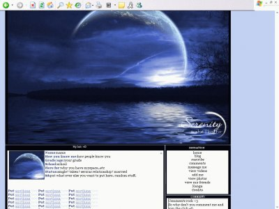 Moonlight Night Myspace Layout