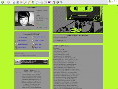 Cassette Tape Guy Myspace Layout