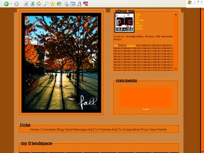 Fall Myspace Layout