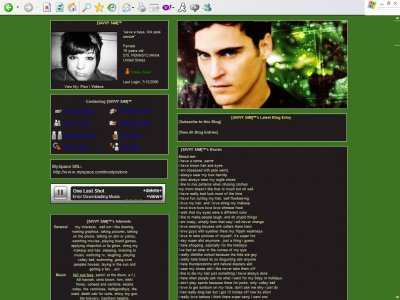 Joaquin Phoenix Myspace Layout