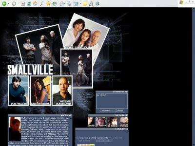 Smallville Ft. Clark, Lana, & Lex Myspace Layout