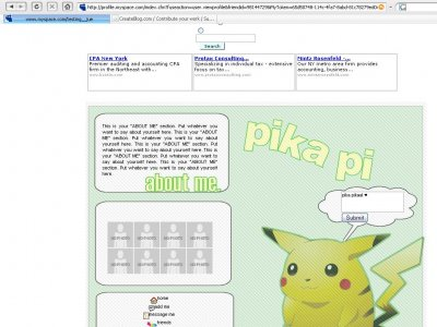 Pokemon Myspace Layout