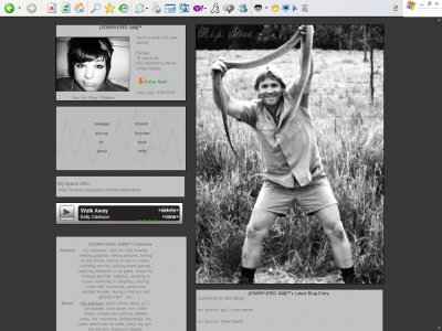 Steve Irwin Myspace Layout