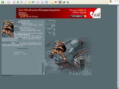 Naruto (Div) Myspace Layout