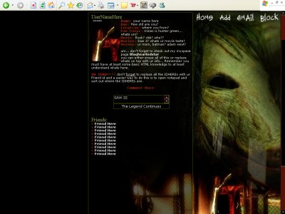 Saw III (Div) Myspace Layout