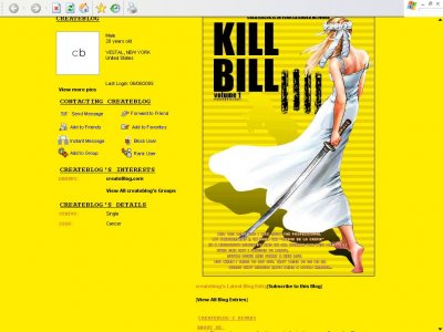 Kill Bill vol. 1 Myspace Layout